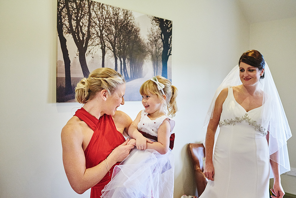 Documentary wedding photography at The Ashes venue