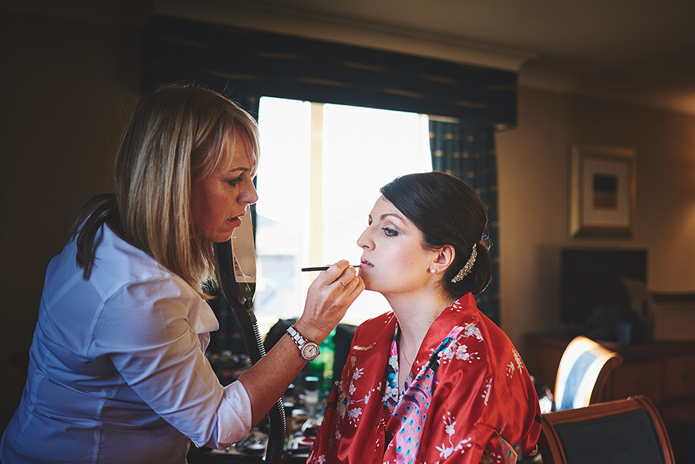 Make-up at The Moat House Hotel in Staffordshire