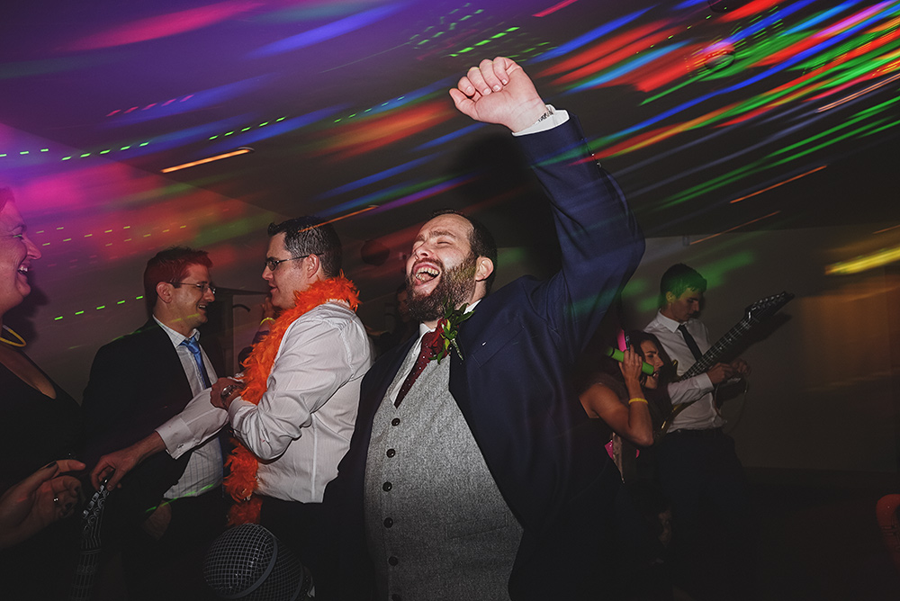 The groom hits the dance floor at The Ashes