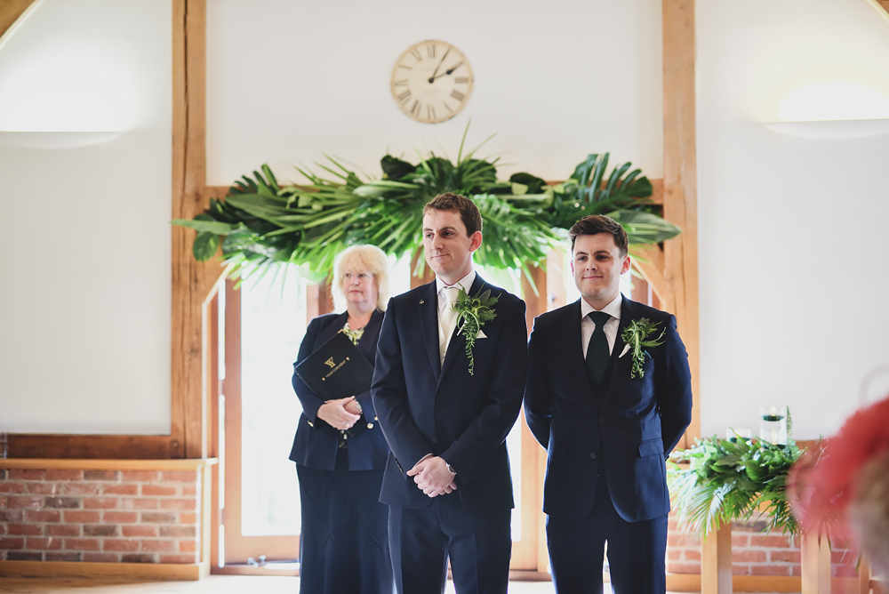 Ceremony - Sandhole Oak Barn Wedding