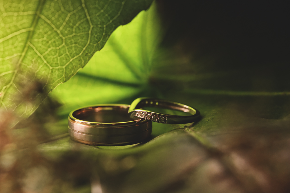 Wedding rings - Sandhole Oak Barn Wedding