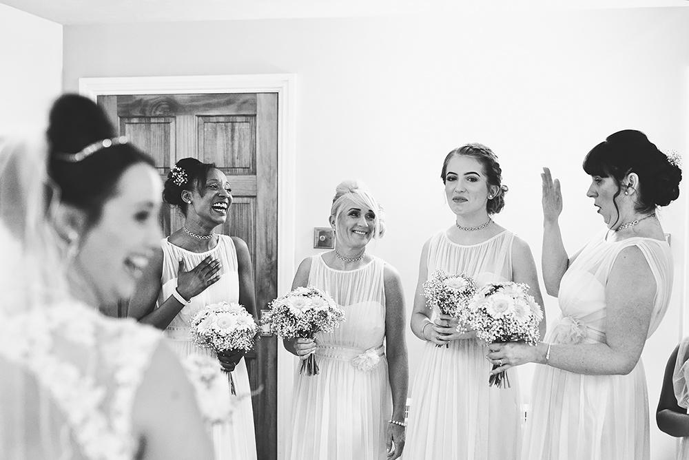 Brides reveal - Sandhole Oak Barn Wedding in Cheshire