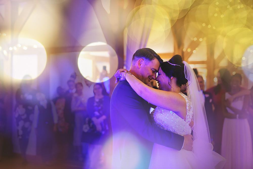 First dance - Sandhole Oak Barn Wedding in Cheshire