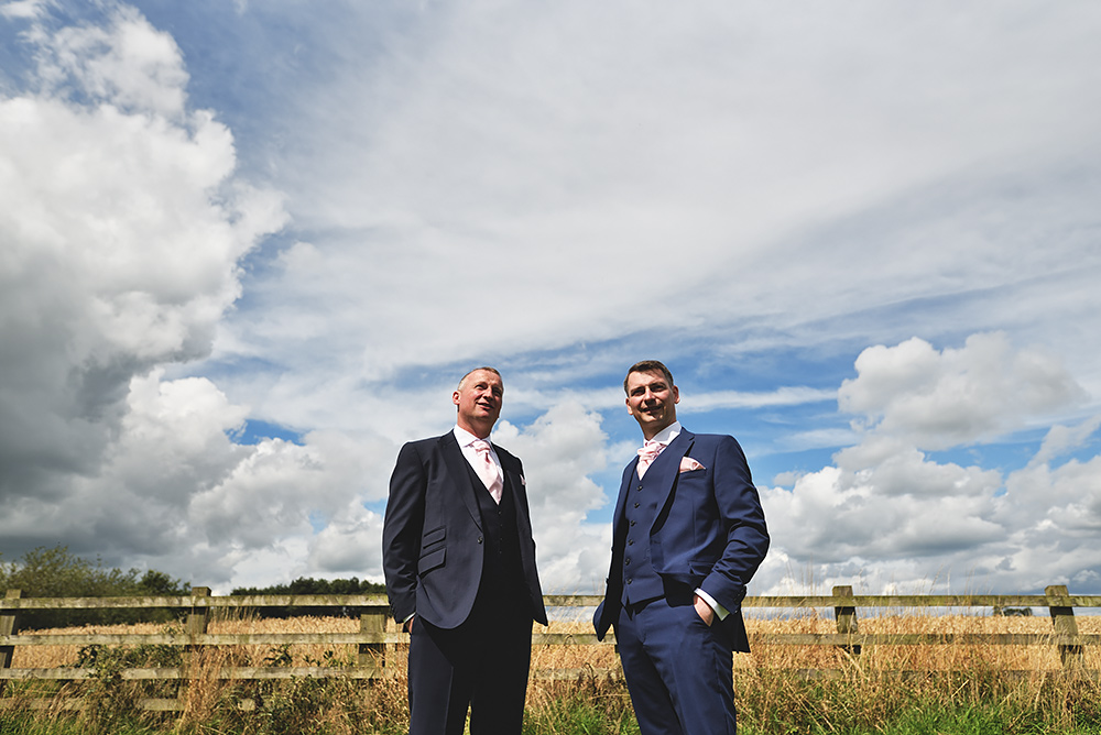 Groom & Best man - Sandhole Oak Barn Wedding in Cheshire