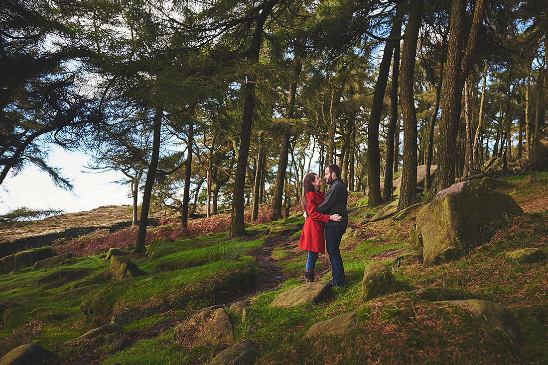 Woodland pre-wedding photography