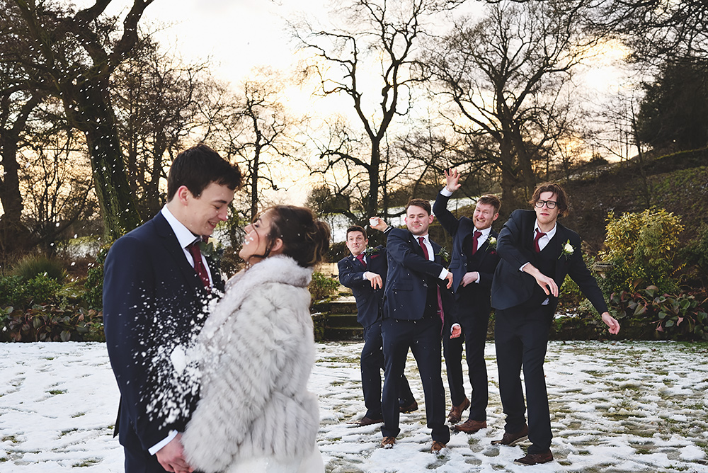 Winter Wedding at The Ashes in Endon