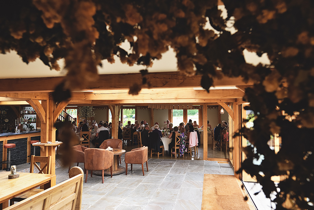 Guests sit down at Tower Hill Barns