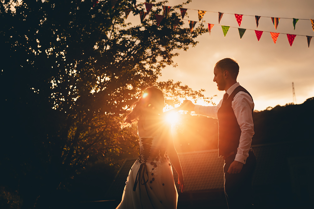 Sun set - Whitebottom Farm Wedding in Stockport