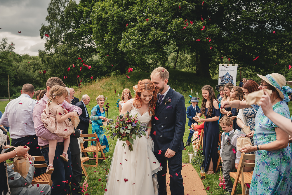 Confetti at Whitebottom Farm Wedding in Stockport