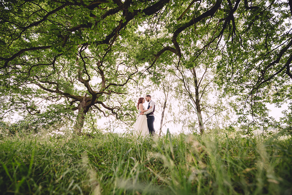 Married couple at Whitebottom Farm in Stockport
