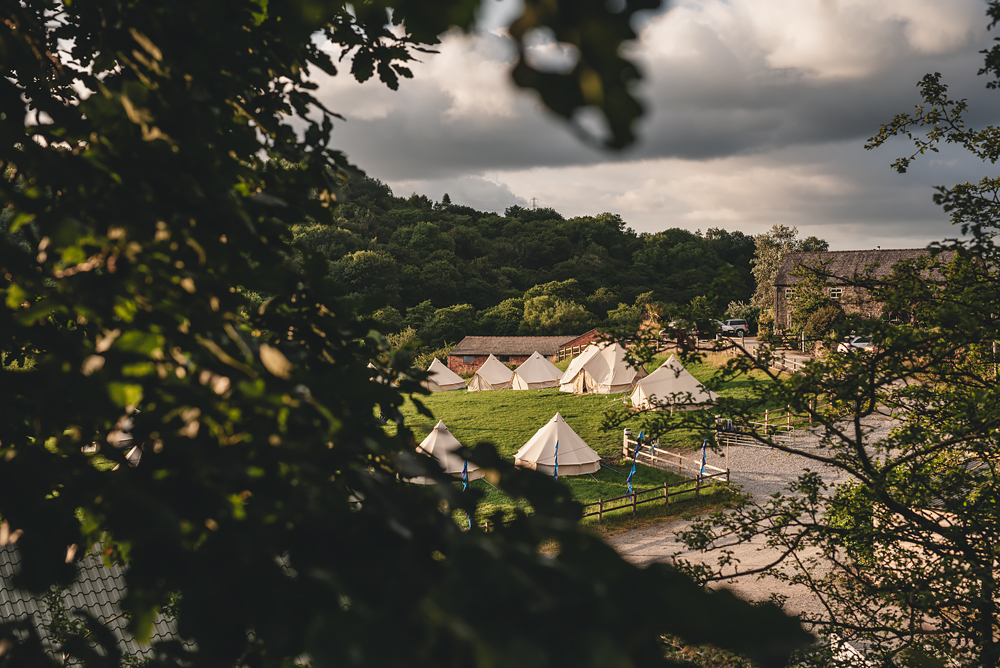 Glamping at Whitebottom Farm in Stockport